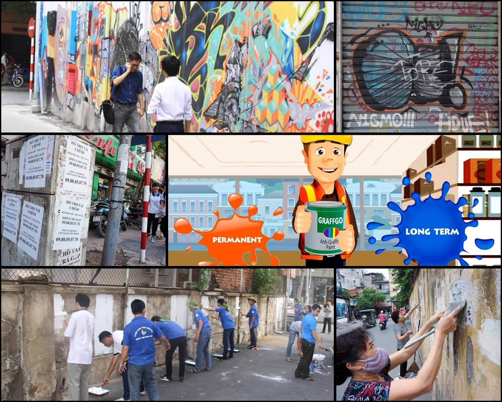 Sơn Chống Quảng Cáo Graffgo anti Graffiti Vẽ Bậy Vết Bẩn