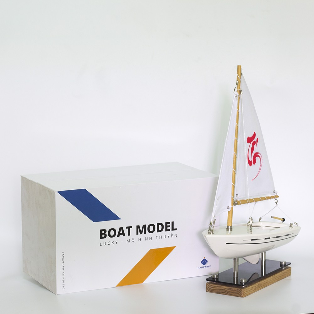 Hộp đựng thuyền buồm phong thủy Lucky