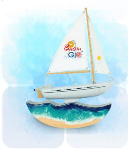 Quà tết 2021 tặng sếp ý nghĩa   Thuyền buồm phong thủy